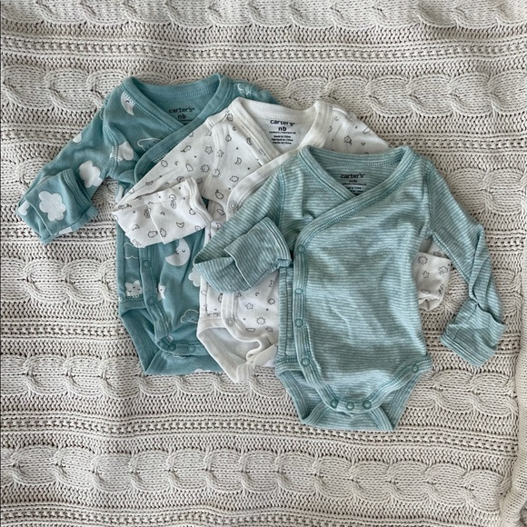 Carter's Set of 3 Newborn Wrap Onsies